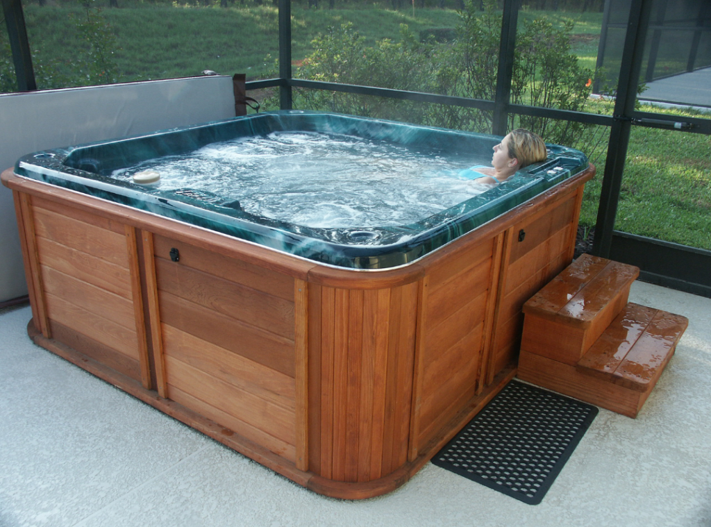 concrete base for hot tub